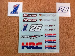 Stickers for the HRC Honda Rc213V Stoner Pedrosa