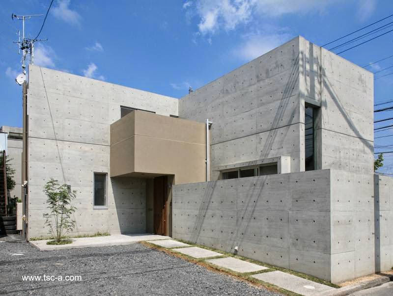 arquitectura de casas residencia japonesa minimalista de