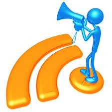wifi symbol with man holding a bullhorn