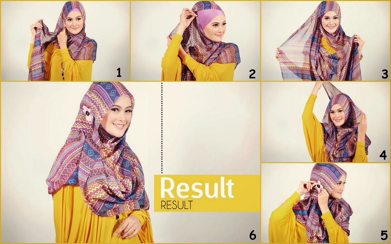 Easy Hijab Easy Colorful Hijab Tutorial Fun 4 Readers
