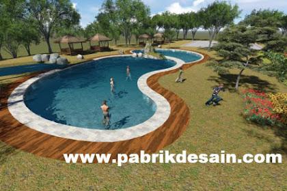Desain taman asri gazebo kolam renang