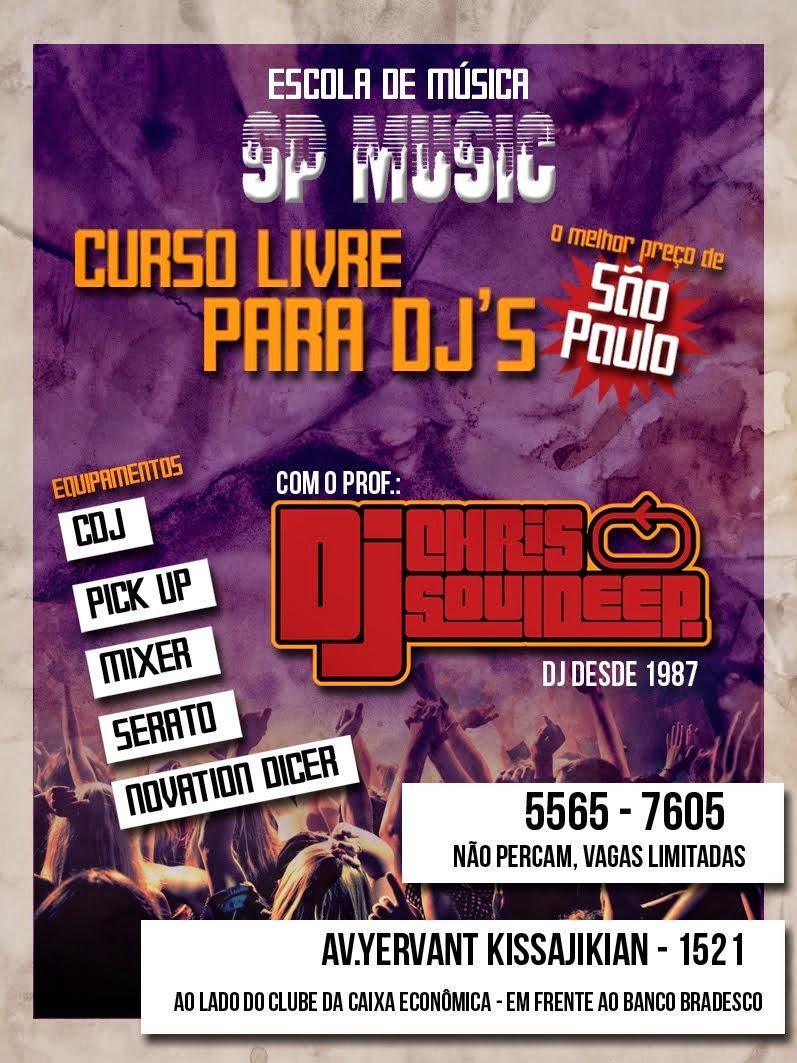 """Curso Livre Para DJ`s """"SP Music"""""""