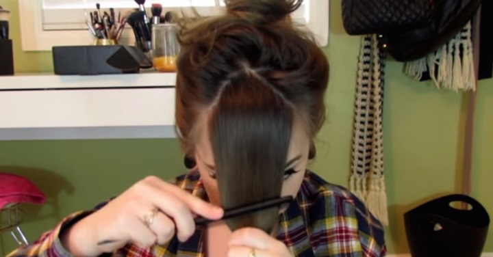 Learn To Cut Your Own Bangs With This No-Fear Technique!