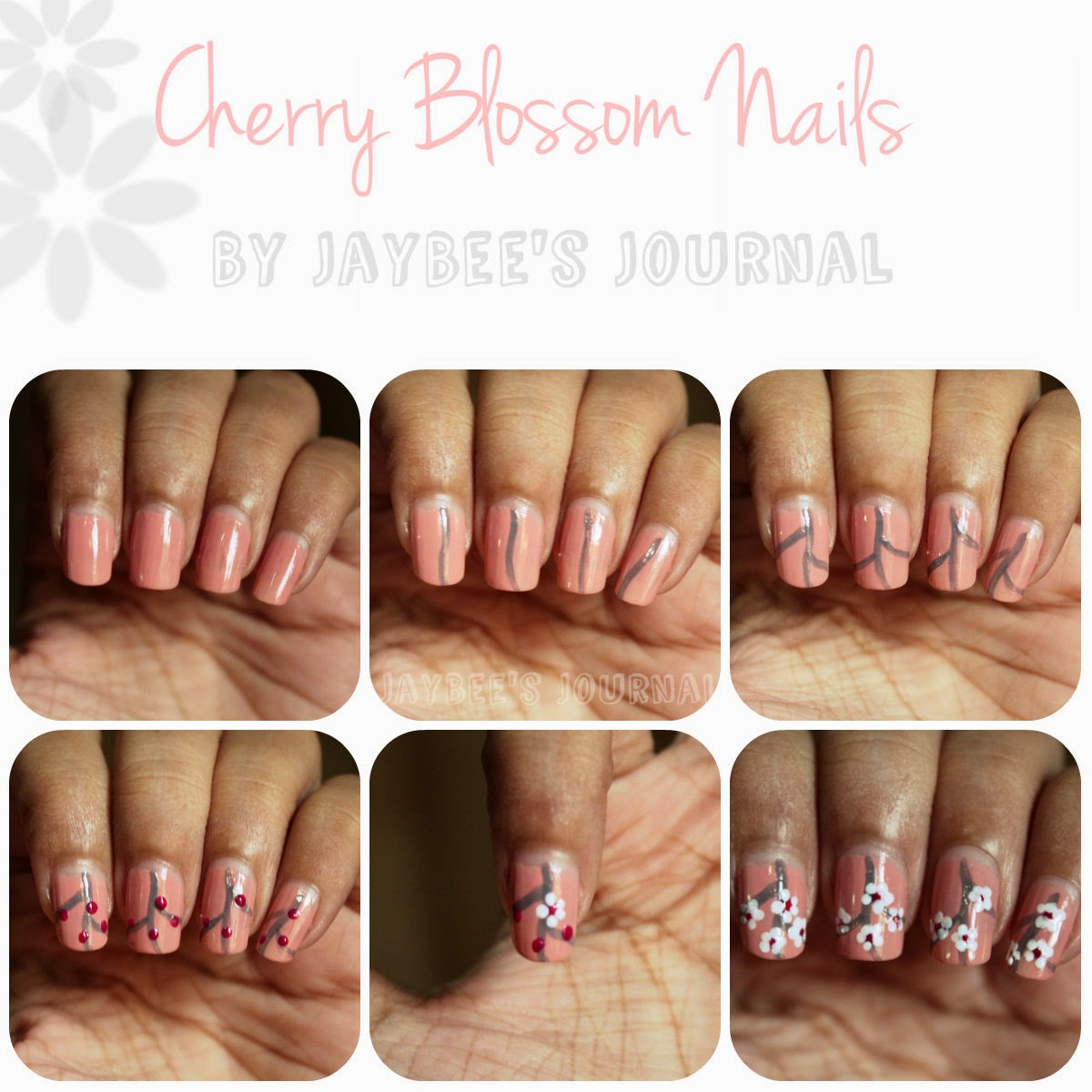 Cherry Blossom Nail Art Tutorial Stani Beauty Book Blog