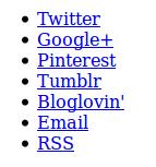 unstyled social media links