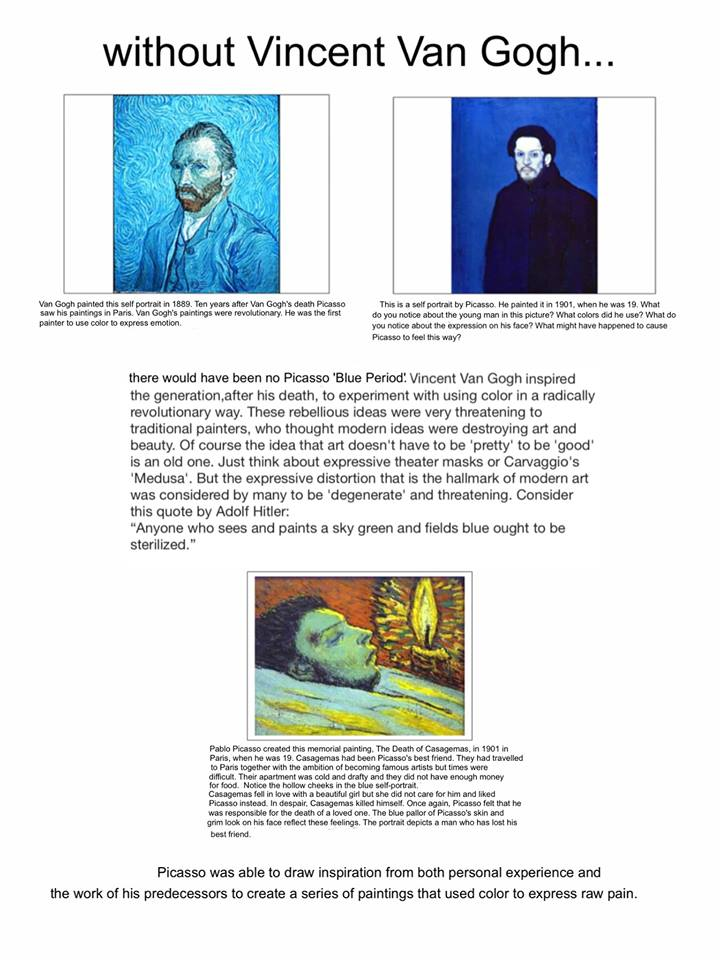 Worksheets Draw Art Transformations Free Worksheet the helpful art teacher imitation and transformation how artists important was van goghs discovery that color could consciously be used not just to depict mere reality but express emo