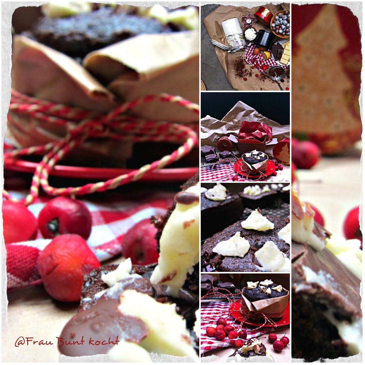 Frau bunt kocht weihnachtliches schokoladen tortchen for Fertigküchen