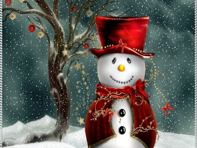 Free Christmas Snowman Wallpaper for Desktop