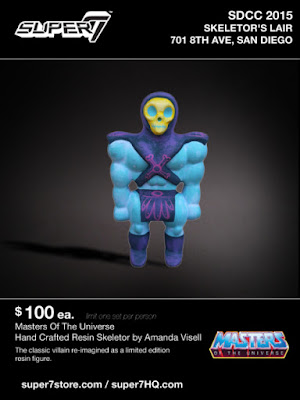 San Diego Comic-Con 2015 Exclusive Masters of the Universe Skeletor Resin Figure by Amanda Visell x Super7