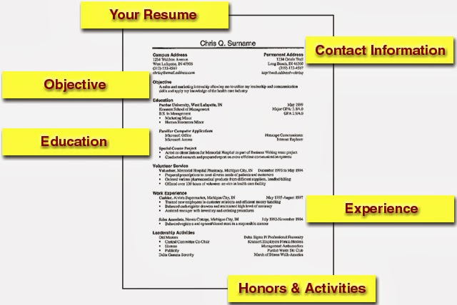 Resume For Job Interview Resume Format