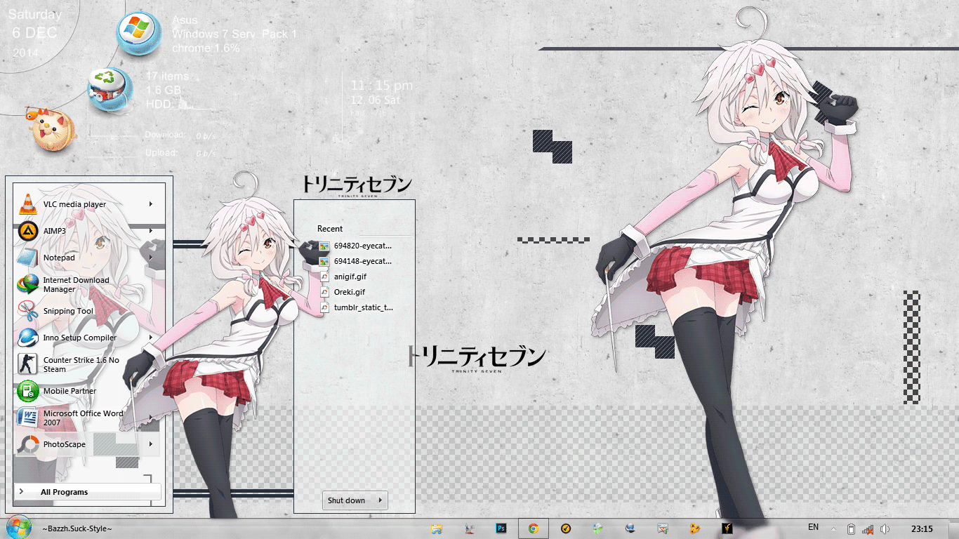 [Theme Win 7] Trinity Seven By Bashkara