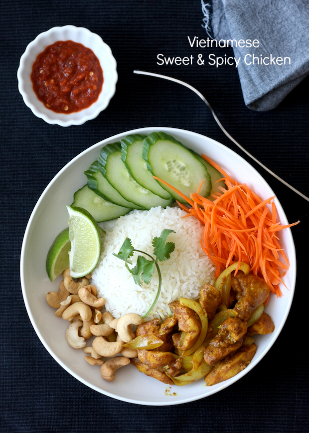 Vietnamese Sweet & Spicy Chicken by SeasonWithSpice.com