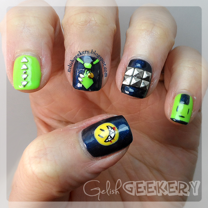 Gelish Dramatical Murder Noiz Anime Nails