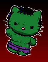 Hello Kitty in The Hulk costume