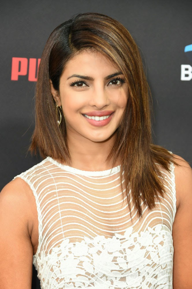 Priyanka Chopra in See-through Dress at Pre-grammy Brunch
