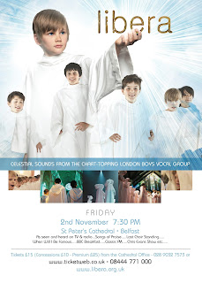 Libera's concerts/tour in St.Peter's Cathedral, Belfast, Northern Ireland, 2012.