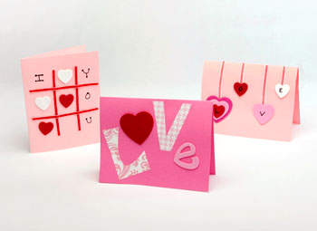 Home quotes 15 valentine 39 s day craft ideas for kids and for Cute homemade valentines day cards