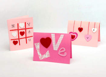 Easy 'Hearts on a string' bunting. Perfect accessory to glam up any ...