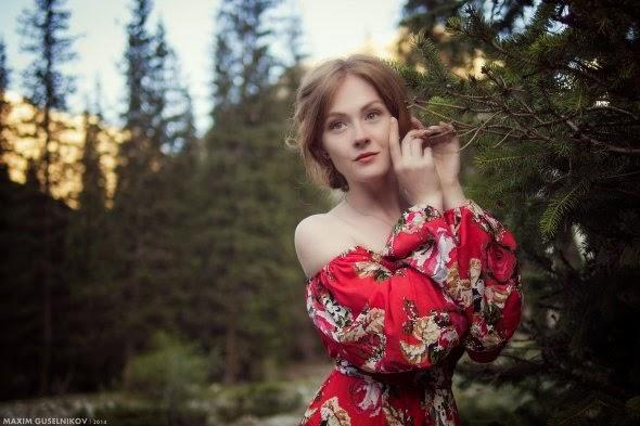 Maxim Guselnikov fotografia mulheres sensuais modelo russa Anastasia
