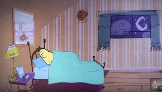Un hombre trata de dormir en su habitación