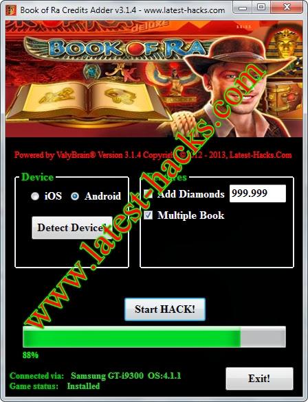 book of ra hack tool