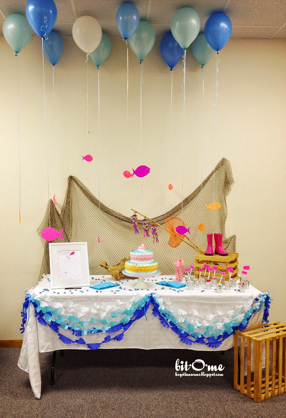 Bit o me fishing baby shower the main event for Fishing baby shower