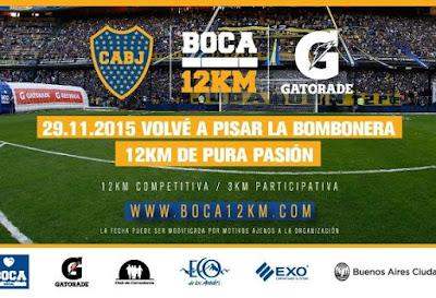 12K Boca Juniors - Corré en la Bombonera (Buenos Aires, ARG, 29/nov/2015)