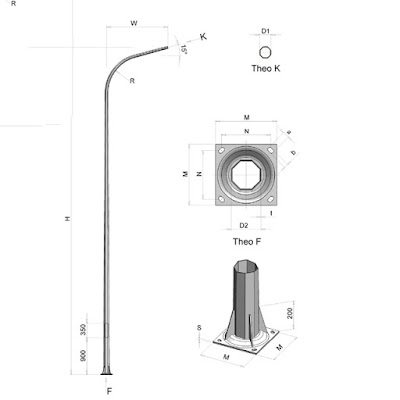 Cột đèn chiếu sáng công cộng TK Lighting