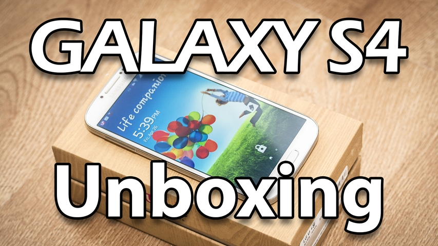 unboxing of the korean samsung galaxy s4
