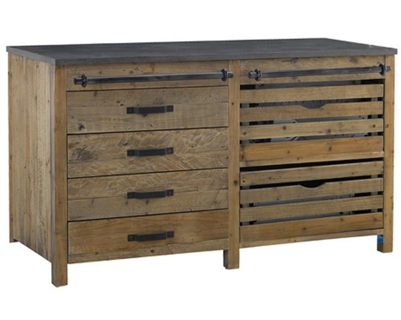 Meuble cuisine en pin recycl meuble et d coration - Meuble cuisine bois recycle ...