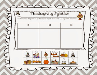 http://www.teacherspayteachers.com/Product/A-Thanksgiving-Syllable-Match-Up-968063