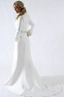 abrigo de novia estrecho entallado lateral