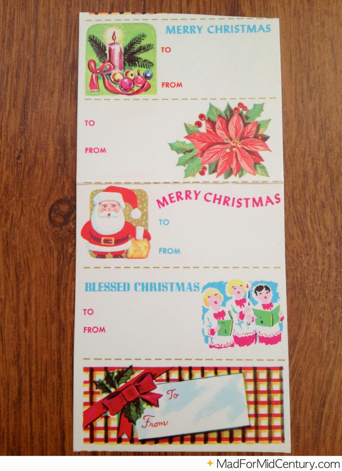 Mad for Mid-Century: Vintage Christmas Gift Tags