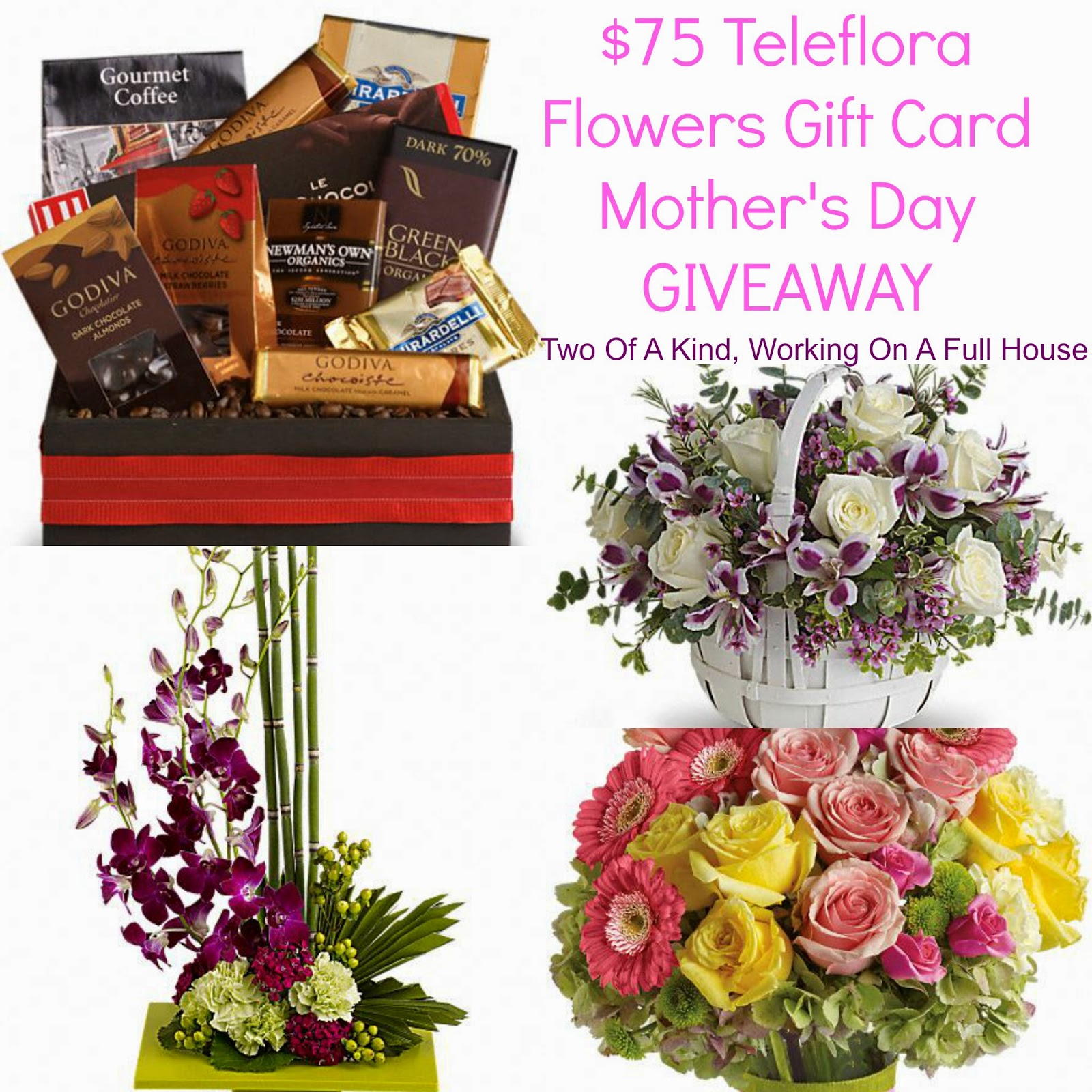 Teleflora Mother s Day Flowers Coupon Code $75 Gift Card Giveaway