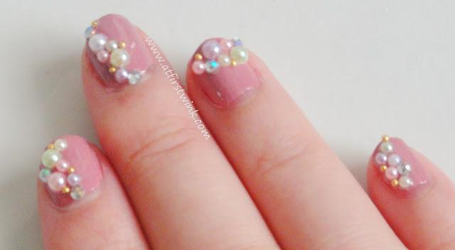 pastel pearl nail art