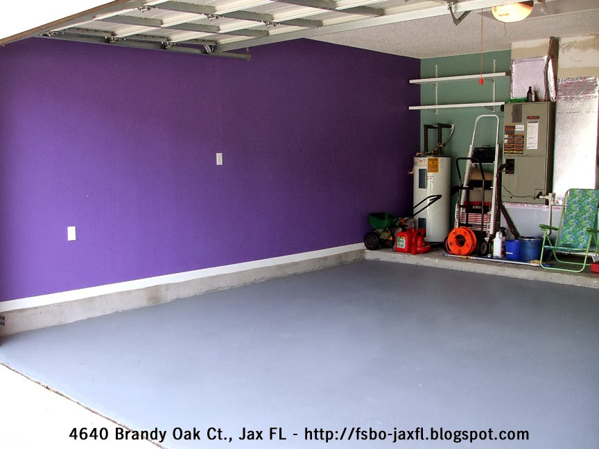 4640 Brandy Oak Court, Jacksonville, FL - Garage Floor Stain