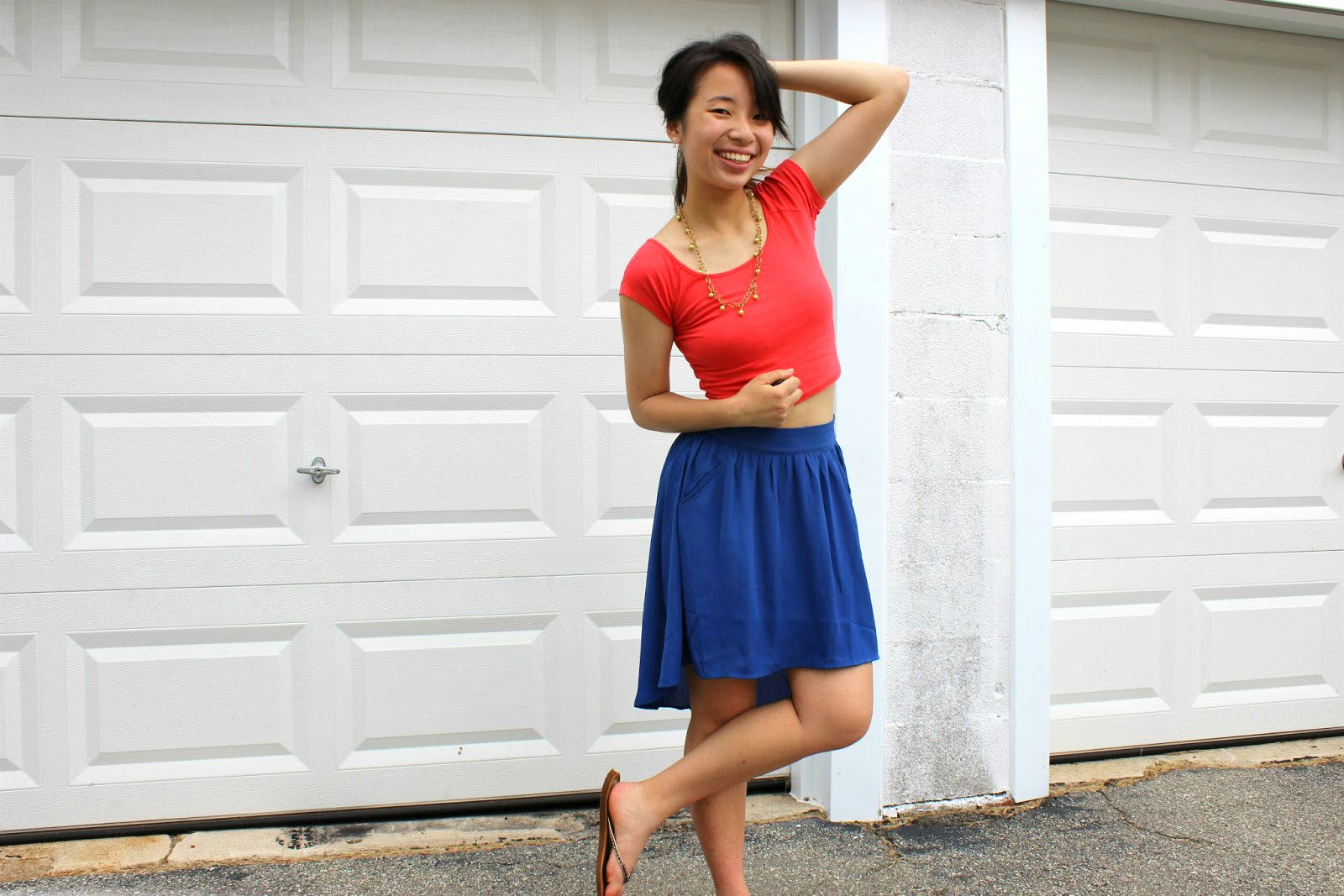 Spring High Low Skirt