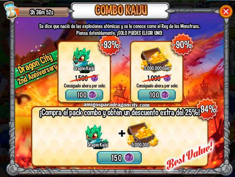 imagen de la oferta especial del dragon kaiju