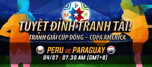 Paraguay vs Peru link vào 12bet