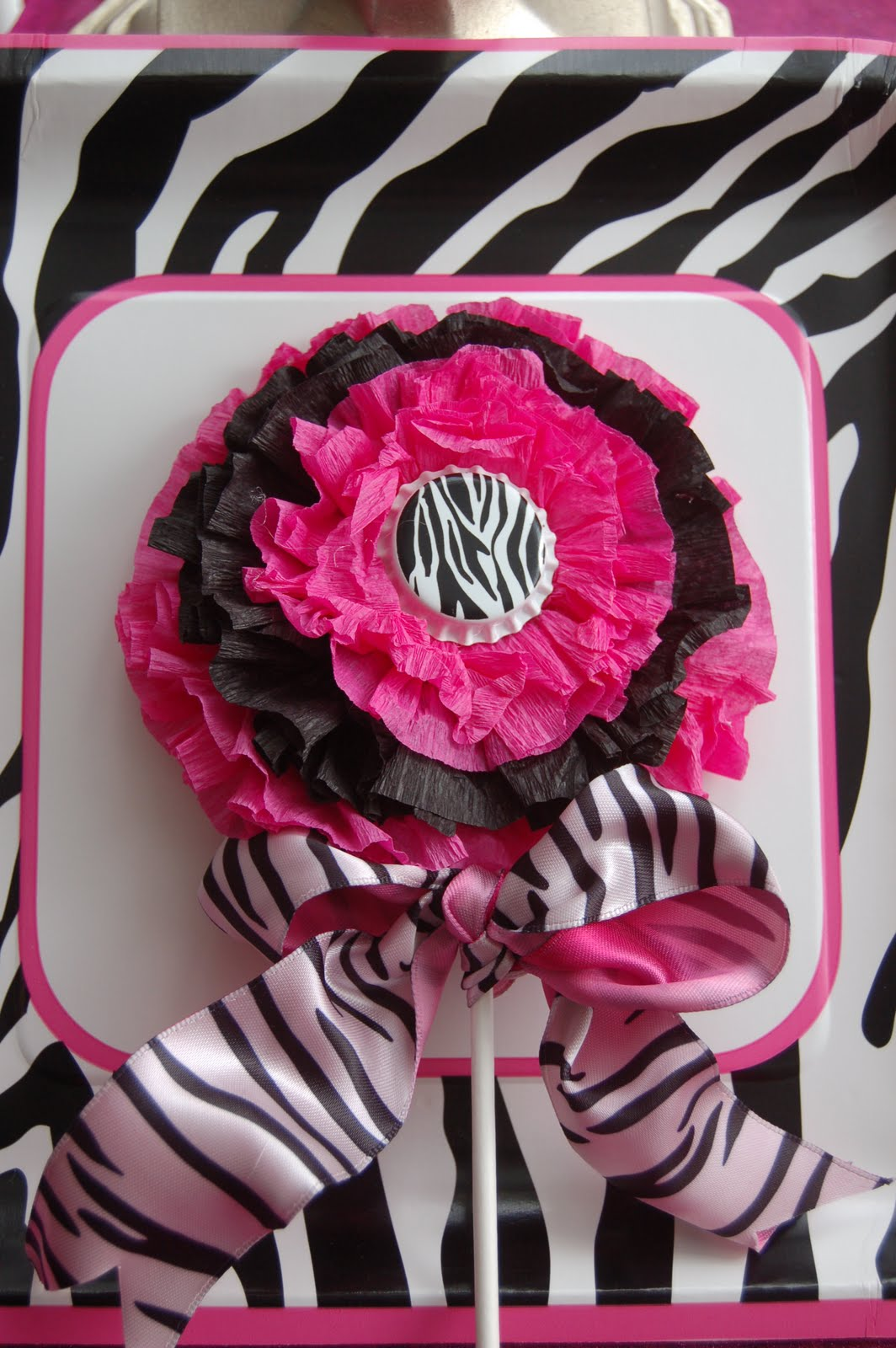 Funky Zebra Cupcake Toppers