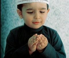 Gambar DP BBM Doa Islami Anak Laki-Laki Lucu Berdoa