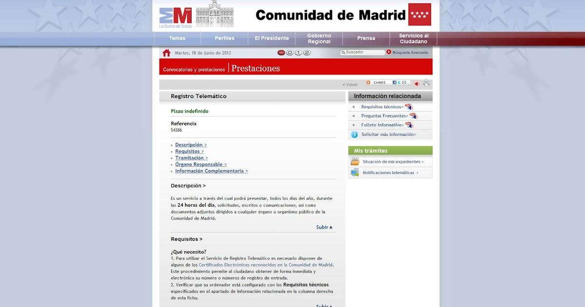 Como registrar un certificado energ tico en la comunidad for Oficinas de registro de la comunidad de madrid