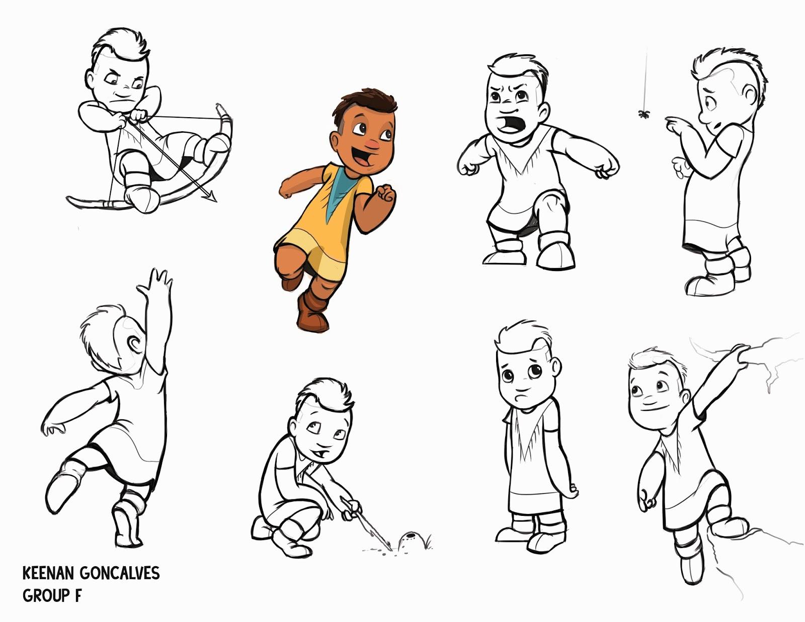 Character Design University Canada : Keeframes character poses
