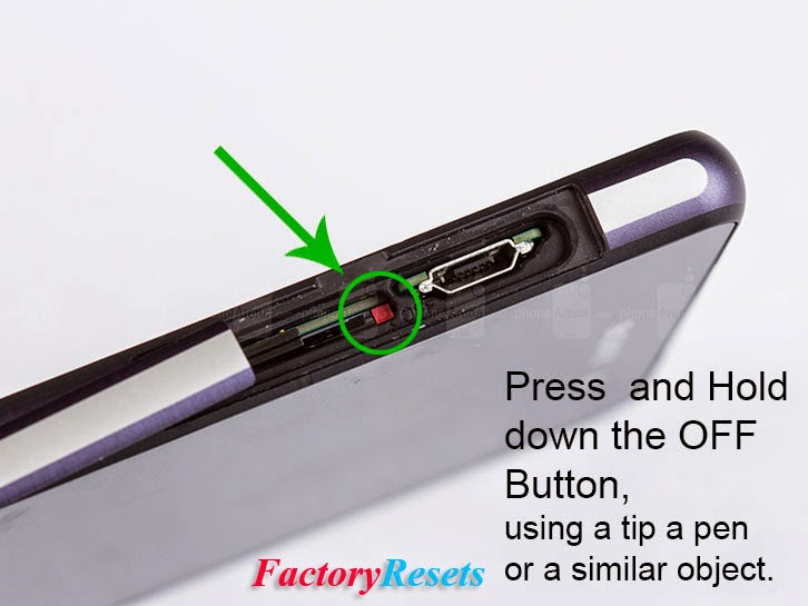 how to hard reset sony xperia z using buttons remain
