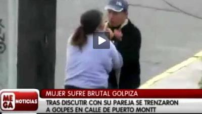 Video de Golpiza a mujer en Puerto Montt.