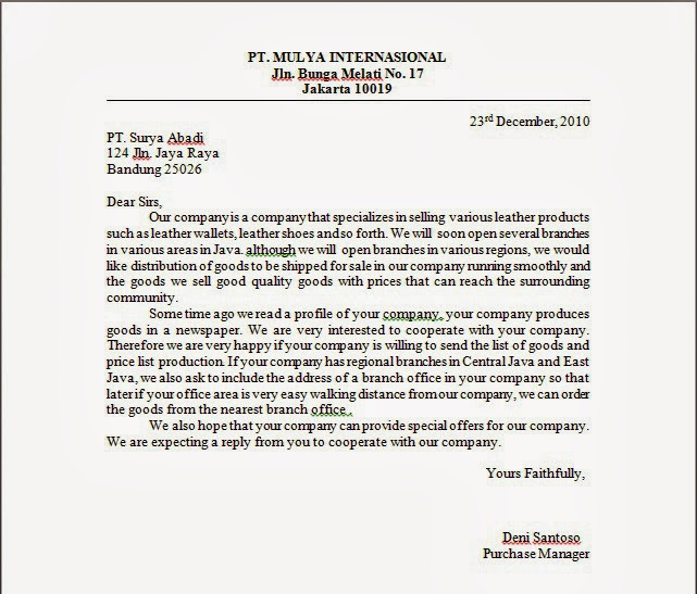 inquiry letter sample – Inquiring Letter Sample