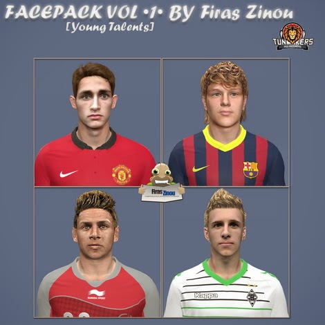 PES 2014 FacePack VOL •1• [Young Talents] by Firas Zinou