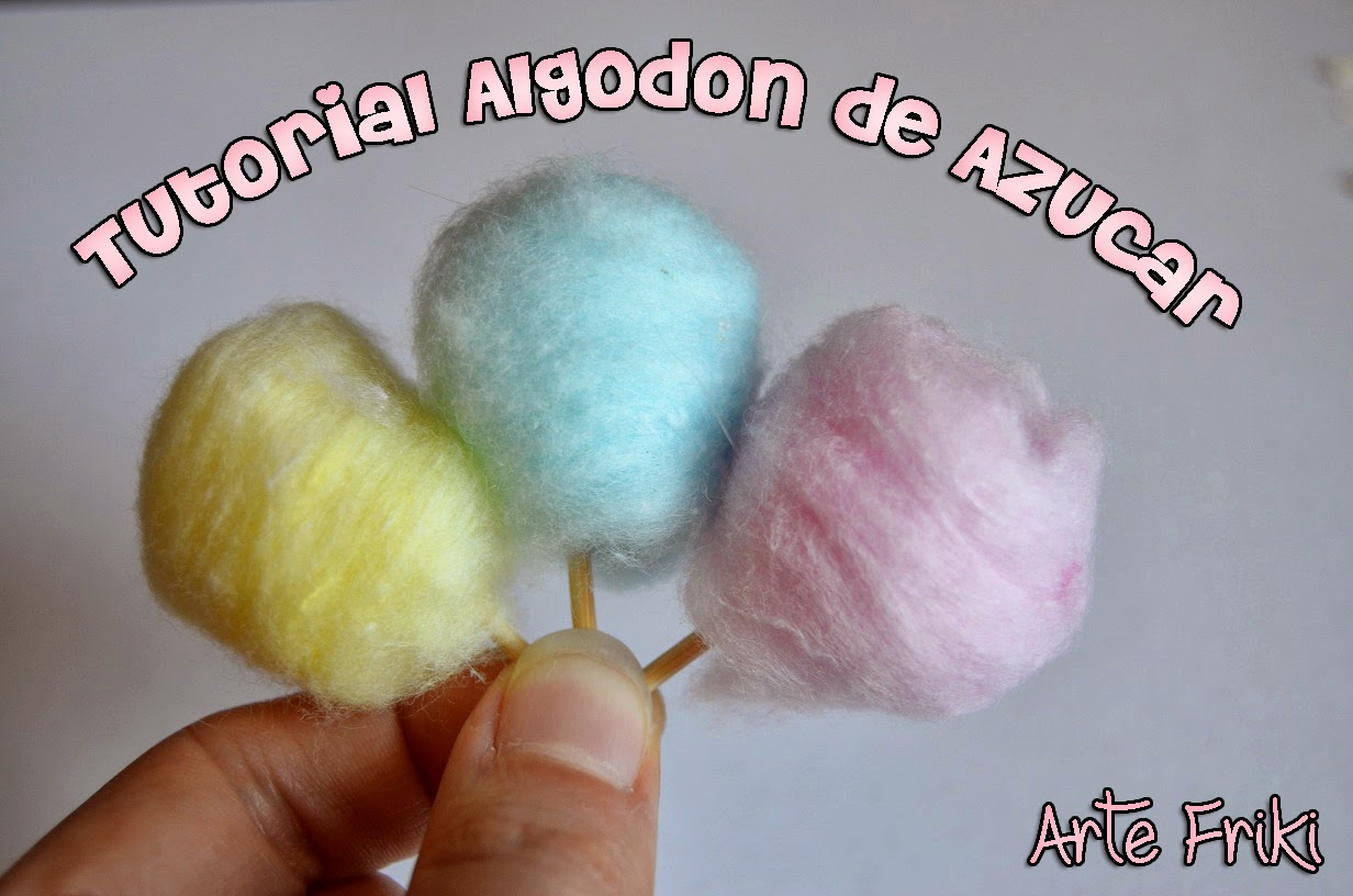 diy tutorial como hacer algodón de azúcar miniatura pullip doll blythe barbie candy how to