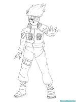 Mewarnai Gambar Kakashi Si Ninja Perkasa Dari Desa Konoha