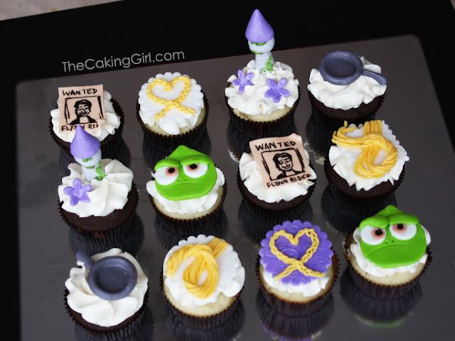 disney tangled theme cupcakes
